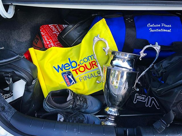 Well played, Nick! A coach's dream. The trunk is packed. See you in Florida! @webdotcomtour @dapchamp