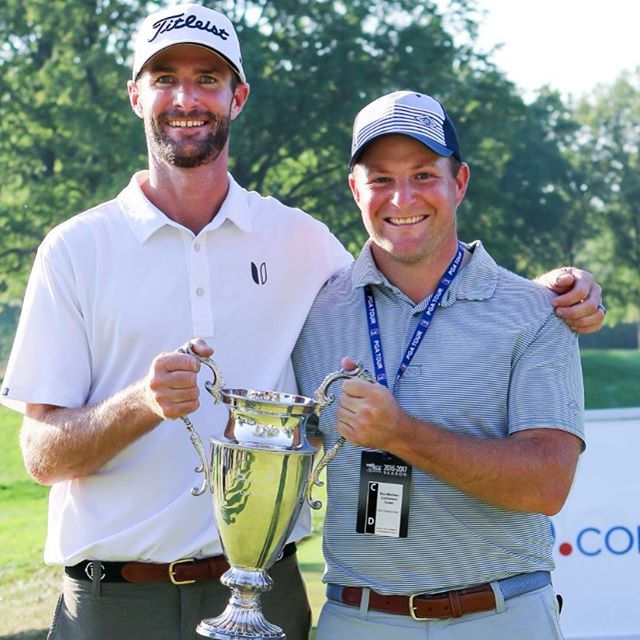 We look really happy here, but I think we felt the same way all week. Attitude first. Refuse to fail. Play smart. Play hard. The rest will take care of itself. See you back on the @pgatour Nick Lindheim! Well played.