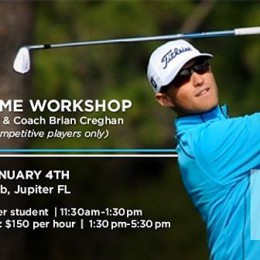 I'm excited to be presenting with @webdotcomtour player @jhackgolf on January 4th at Abacoa Golf Club in Jupiter, FL! This workshop is tailored for professional players, coaches, and competitive amateurs. Message me directly to reserve a spot in the workshop or to book individual lessons with one of the world's best short-gamers!