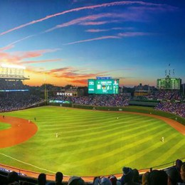 Wrigley Field. Top of the 6th. Phillies: 5 Cubs: 0